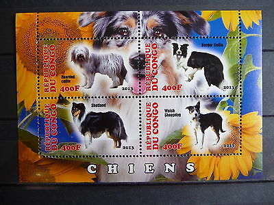 Hunde 21 dogs Chiens Haustiere pets Fauna Block KB sheets postfrisch ** MNH