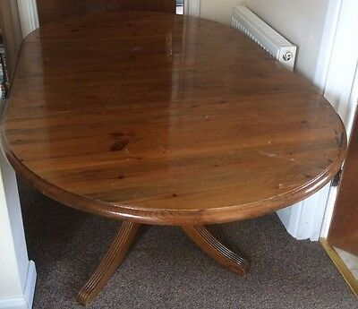 Extended Pine Dining Table for 6 chairs