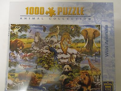 Wild Animals 1000 Piece Jigsaw Puzzle, New Sealed and Unopened.