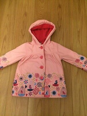 Girls Strawberry Faire Coat Age 1-2 Pink