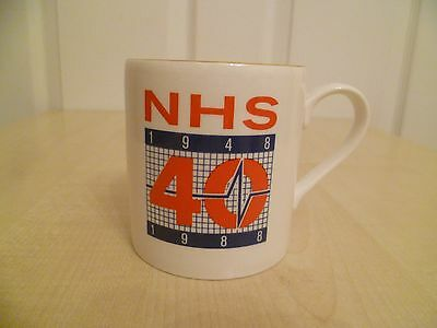 Must See ! 40 Years Of The NHS China Gold Rimmed Mug