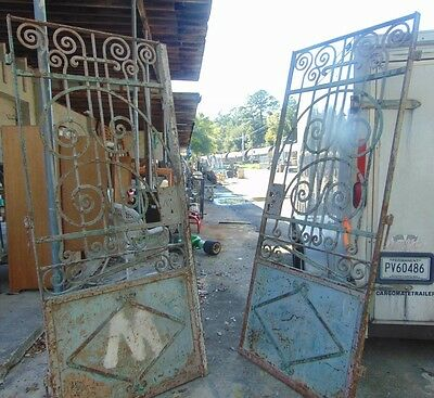 Antique Cast Iron Entry Doorway or Driveway Gates