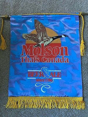 "Molson Beer banner advertizing ""That's Canada"" 1981"