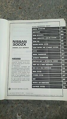 Nissan 300ZX Z31,service manual supplement.Facelift models.Good used condition.