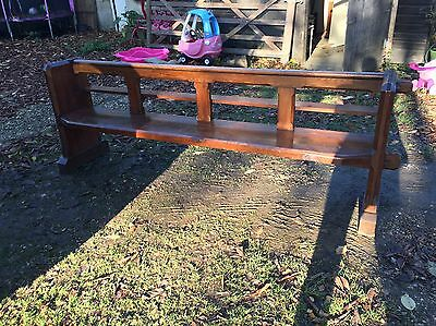 8ft Solid Church Pew & Book Stand