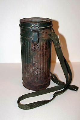 Original German WW2 Gas Mask Canister, 1943.