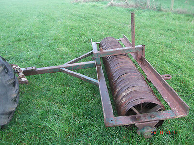 7ft 10 Rib Cambridge Roll Roller Flat for Tractor Grass Field Paddock Tractor