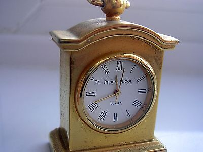 Carriage Clock, Mantle Clock, Miniature  Novelty by Pierre Nicol. Working order