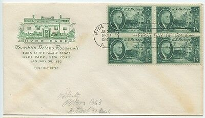 1945  Fdc, Franklin Delano Roosevelt, Set 4 Covers