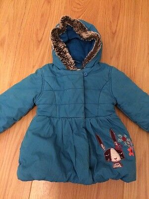 Girls Marks And Spencer M&S winter Coat Jacket Age 2-3