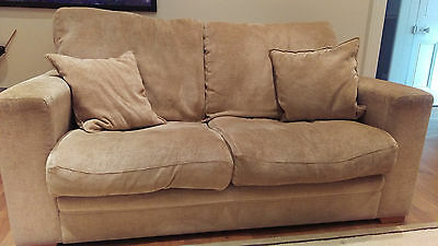 2 Seater Sofa and matching large Armchair - Biscuit/Beige