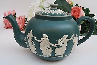 Vintage English Dudson Brothers Staffordshire ceramic Jasperware-style teapot