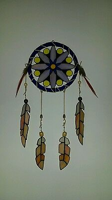 Dream Catcher Real Stained Glass Native american Wall Decor