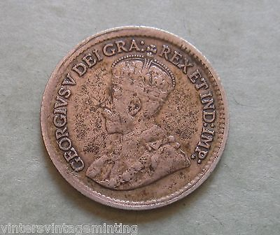 1920 Five Cent * Canada .925 Silver * George V