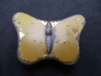 Vintage Miniature Yellow Butterfly Tin