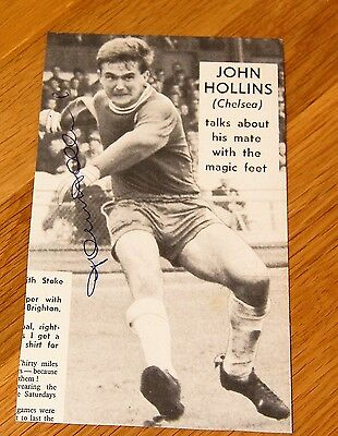 John Hollins Chelsea England Hand Signed Football Autograph