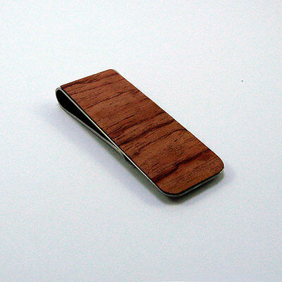 Pinza para billetes personalizada. Regalo especial. Wood Money Clip. Custom