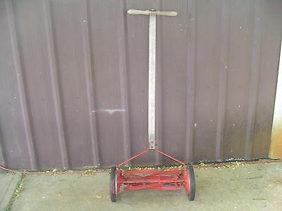 Antique 16 inch 1906 Dille + McGuire rotary Reel Lawn Mower push vintage manual
