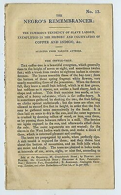 Small 8 Page Printed Account Of Slave Labour c1800s By Bagster Of London
