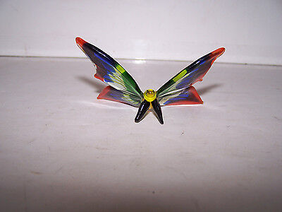 Fitz and Floyd Glass Menagerie Butterfly Orange Blue Green Yellow