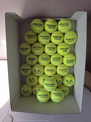 25 Tennis Balls - Used Mixed Brands - Ideal for Practice or Dog Toys