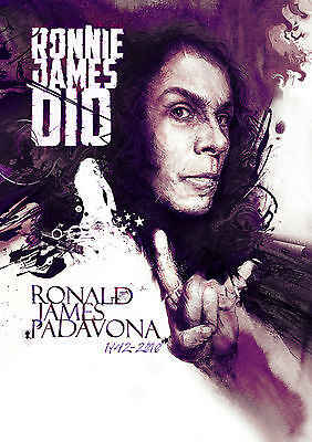 Tribute To Ronnie James Dio - Original Limited Edition Greeting Card