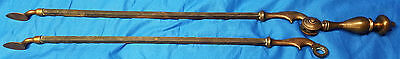 Set of 2 Metal Steel & Copper Patina Decorative Rods Art Piece Accessory Display