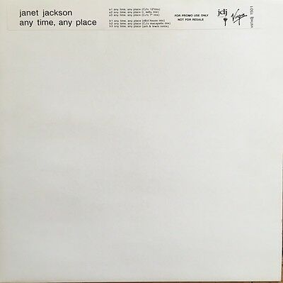 "Janet Jackson 'Any Time, Any Place' 12"" Promo"