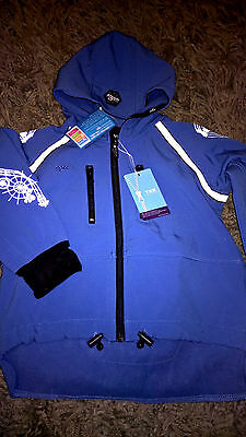 BNWT Agoo Reflective Waterproof Stylish Blue Coat Ages 2-3 yrs FREE POST