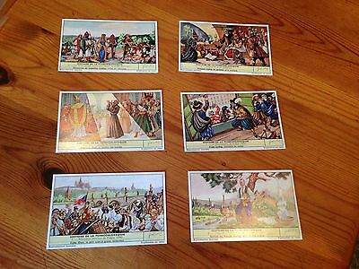 Set of 6 Liebig trading cards - History of Czechoslovakia - in French