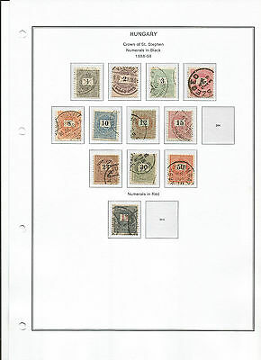 Hungria 1888-1915 Mixed Classic Collection Used/mh (8 Scans)