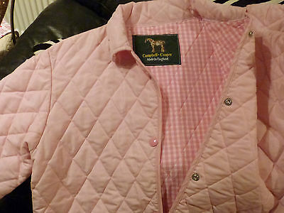 Campbell and Cooper pink padded jacket Made in England **SWEET**