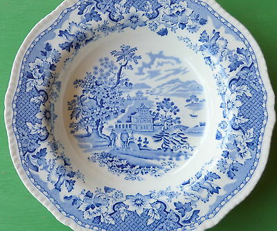 Seaforth Made in England  Woods and Burslem very old blue and white plate W237
