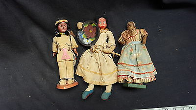 Vintage ethnic doll collection.