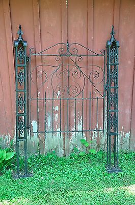 Beautiful Rare Vintage Black Iron Gate by Pennsylvania Wayne Iron Works Company