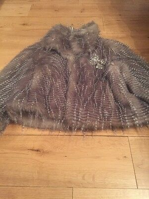 Girls Next Fur Coat Age7-8 Years - Stunning