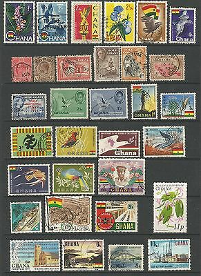 Gold Coast Ghana Collection 32 Stamps George V Georeg VI Good to Fine Used