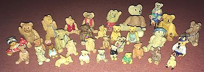 Job Lot 33 X Rare Pete Fagan Colourbox Teddy Bear Collectable Ornaments Figures
