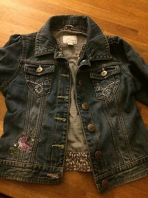 Girls Denim Jacket Age 9-10 From Next