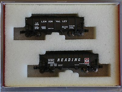 Z Scale 1:220 Pennsylvania 3-Bay Anthracite Hoppers 2-Pack Wdw Ft Col-22 #1
