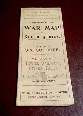 Vintage Saxon's Everybody's War Map Of South Africa Printed In 6 Colours