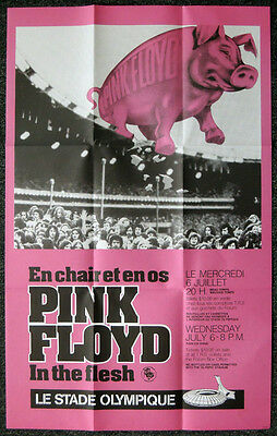 Pink Floyd Repro 1977 Montreal Concert In The Flesh / Animals Tour Poster Not Cd