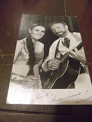 Vintage Music DAVID & MARIANNE DALMOUR hand signed photo
