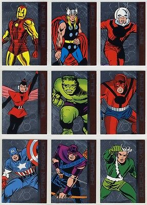 2015 Marvel Avengers Silver Age AVENGERS ROLL CALL chase card Set (17 cards)