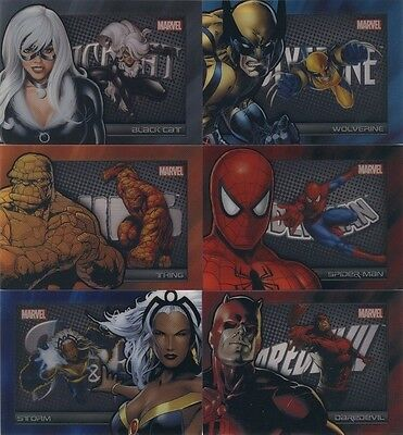 2014 Marvel Universe series 2 SHADOWBOX complete chase Set (6 cards) S7-S12