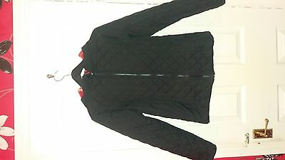 girls black quilted coat age 12-13 yrs
