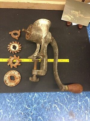 Vintage Collectible Eclipse Meat Grinder with 4 Blades