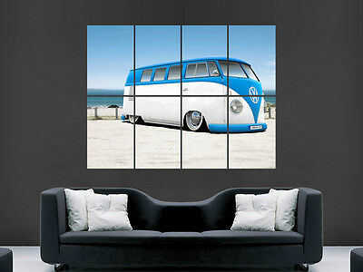 Vw Camper Van Bus Classic Art Wall Large Image Giant Poster