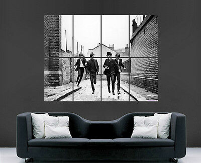 The Beatles Poster Music Band Legends Wall Art Large Giant Print Black And White