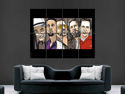 The Big Lebowski Poster Movie Classic Comedy Wall Classic Art Picture Print Huge